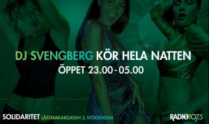 DJ Svengberg på Solidaritet 2012 Klubb 107.5 Radio 107.5